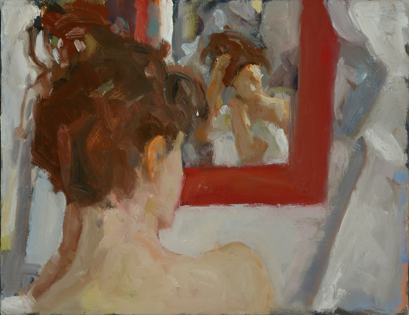 The-Red-Mirror-(Oil)
